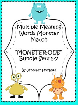 Multiple Meaning Words Monster Match Bundle Sets 5-7