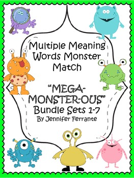 Multiple Meaning Words Monster Match Mega Bundle