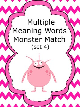 Multiple Meaning Words Monster Match (set 4)