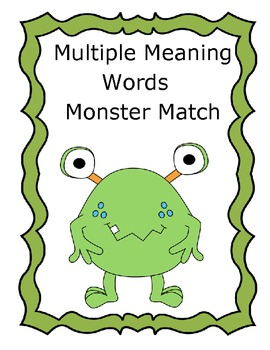 Multiple Meaning Words Monster Match