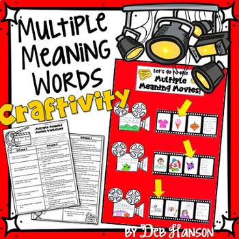 Multiple Meaning Words Craftivity
