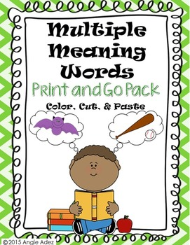 Multiple Meaning Words- Print & Go Pack