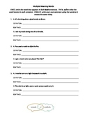 Multiple Meaning Words Packet
