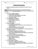Multiple Meaning Words Packet #BTSFRESH