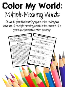 Multiple Meaning Words Printables