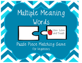 Multiple Meaning Words Puzzle Pieces Game