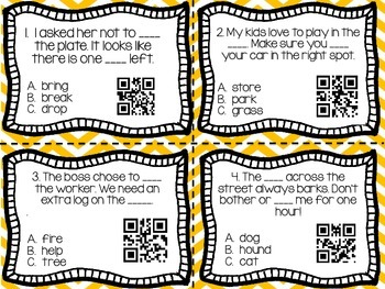 Multiple Meaning Words QR