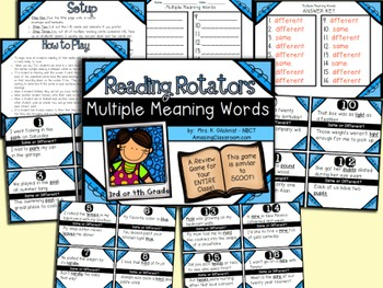 Multiple Meaning Words Review Game for Your Entire Class