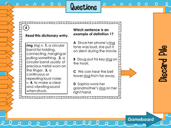 Multiple Meaning Words SMARTboard Game and Task Cards