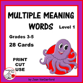 Vocabulary | Multiple Meaning Words 1 ...  HOMOGRAPHS   Task Cards   Gr. 3- 4