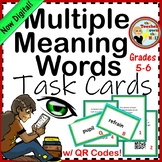 Multiple Meaning Words Task Cards w/ QR Codes (5th-6th)