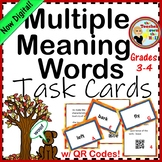 Multiple Meaning Words Task Cards w/ QR Codes (3rd-5th)