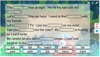 Multiple Meaning Words/Homographs Smart Lab Interactive Whiteboard  Activities