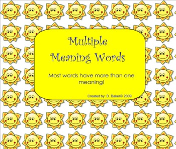 Multiple Meaning Words Smartboard Practice