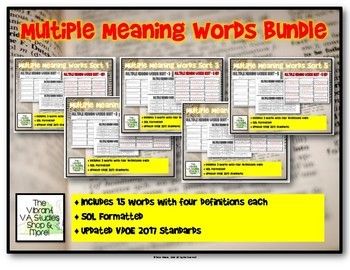 Multiple Meaning Words Sort BUNDLE