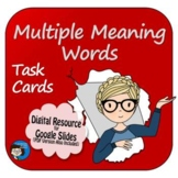 Multiple Meaning Words Task Cards Digital Resource