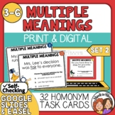Multiple Meaning Words Task Cards Set 2