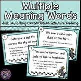 Multiple Meaning Words Task Cards Using Context Clues