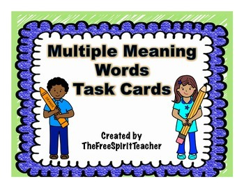 Multiple Meaning Words Task Cards with Answer Sheet