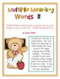 Multiple Meaning Words Through Matching II