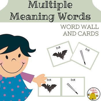 Multiple Meaning Words Word Wall and Cards
