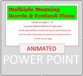 Multiple Meaning Words and Context Clues
