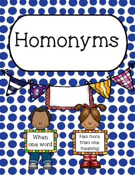 Multiple Meaning Words and Homonyms Bellwork, Task Cards,