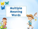 Multiple Meaning Words for CPS Clickers