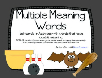 Multiple Meaning Words for Kindergarten
