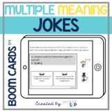 Multiple Meaning Words in Jokes Boom Cards™️| Speech Therapy