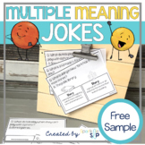 Multiple Meaning Words in Jokes for Speech Therapy FREE Sample