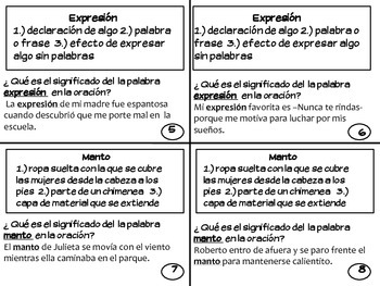 Multiple Meaning Words in SPANISH