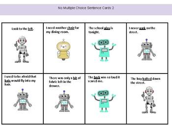 Multiple Meaning Words in Sentences, Homophone Practice