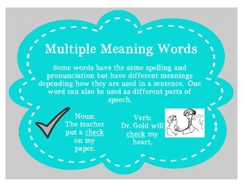 Multiple Meaning Words: nouns and verbs