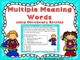 Multiple Meaning Words using Dictionary Entries - PDF-Digi