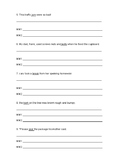Multiple Meaning Words- worksheets and game