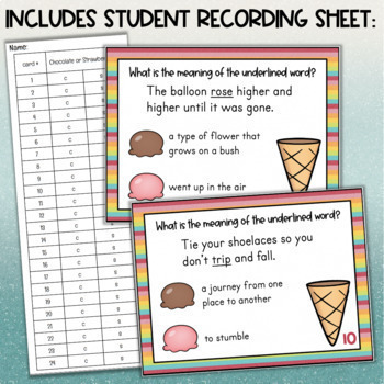 Multiple Meaning Words Task Cards - Using Context Clues