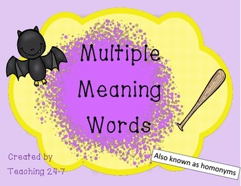 Multiple Meaning Words/Homonyms