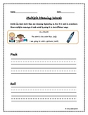 Multiple Meaning Words_Sentence Clues