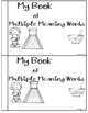 Multiple Meaning words An emergent reading book
