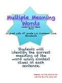 Vocabulary: Multiple Meaning
