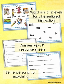 Homonym Task Cards for Thinking with Multiple Meanings 2