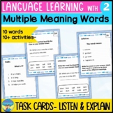 Homonyms Activities 2 | Language Skills Task Cards | Multiple Meanings