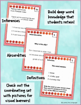 Homonym Task Cards for Thinking with Multiple Meanings 3