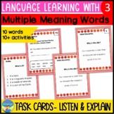 Homonyms Activities 3 | Language Skills Task Cards | Multi