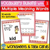 Homonyms Activities 3 | Vocabulary Worksheets and Task Car