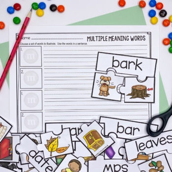 Multiple Meaning Words ~ Centers / Whole Group / Task Cards