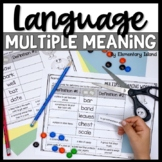 Multiple Meaning Words worksheets, activities, and task cards