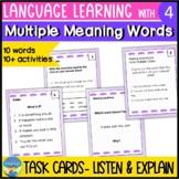 Homonyms Activities 4 | Language Skills Task Cards | Multi