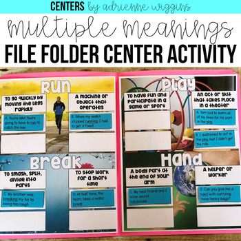 Multiple Meanings File Folder Game